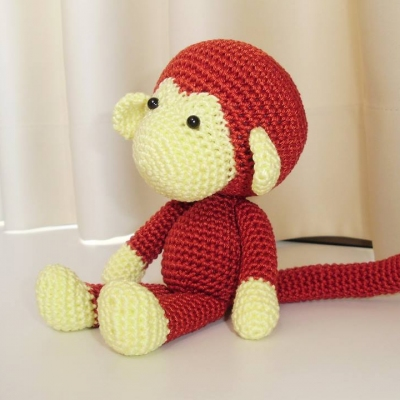 Handmade World: [Crochet] Johnny the monkey 🙈 (With images ... | 400x400