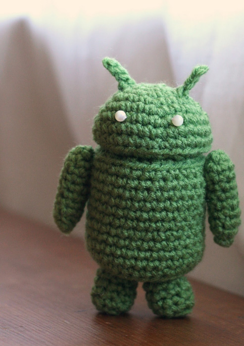 Amigurumi Robot Crochet Patterns : Android Robot - Free amigurumi pattern