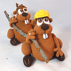 Bob the beaver amigurumi by IlDikko