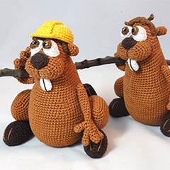 Bob the beaver amigurumi pattern by IlDikko