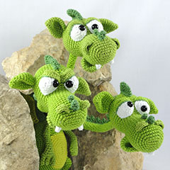Brutus Brian Boris the three headed dragon amigurumi pattern by IlDikko