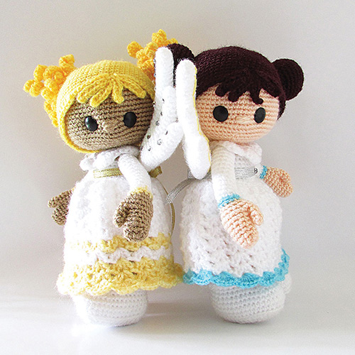 Free Crochet Patterns Christmas Angels : Christmas angels amigurumi pattern - Amigurumipatterns.net