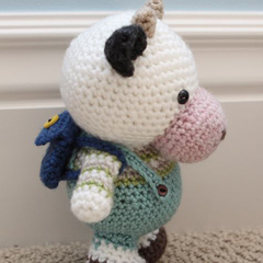 Clarence Cow amigurumi pattern by Little Muggles
