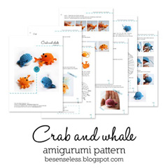 Crab and Whale amigurumi pattern by airali design