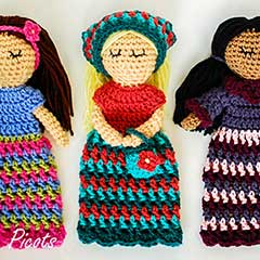 Customizable Doll with Extras amigurumi by Petals to Picots