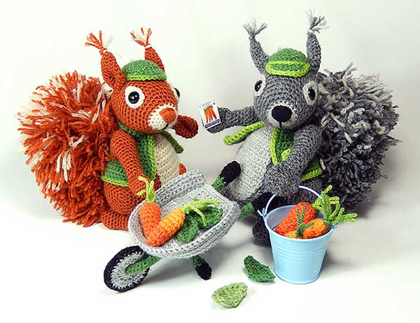 Cyril the gardener squirrel amigurumi pattern ...
