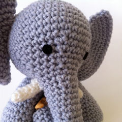 E is for Elephant amigurumi pattern by Ami Amour