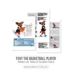 Foxy the basketball player amigurumi pattern by Tales of Twisted Fibers