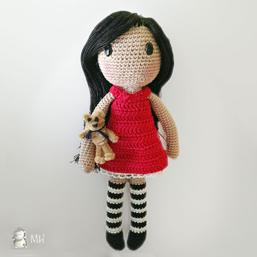 Free Crochet Doll Patterns : Gorjuss doll - Free amigurumi pattern
