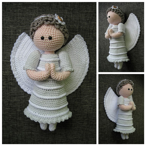 Angel Amigurumi Tutorial : Guardian Angel amigurumi pattern - Amigurumipatterns.net