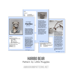 Haribo Bear amigurumi pattern by Little Muggles