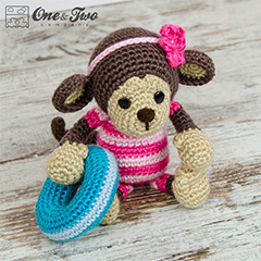 Lily the baby monkey amigurumi by One and Two Company