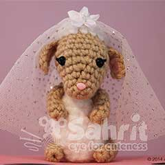 O-So-Cute Lion&Lamb Wedding Topper amigurumi by Sahrit