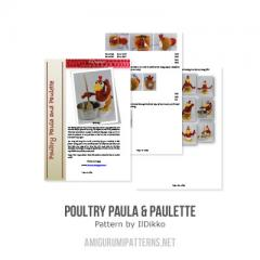 Poultry Paula and Paulette amigurumi pattern by IlDikko