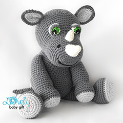 Rob the rhino amigurumi pattern by Lovely Baby Gift