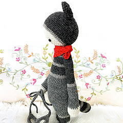 Roco the raccoon amigurumi by Lalylala