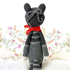 Roco the raccoon amigurumi pattern by Lalylala