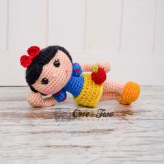 Snow white doll amigurumi pattern by One and Two Company