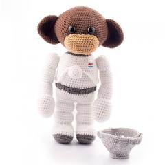 Space monkey amigurumi by Dendennis