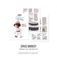Space monkey amigurumi pattern by Dendennis