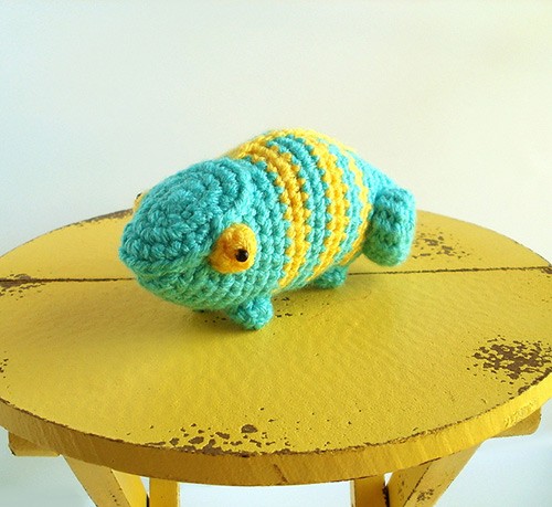 Spectrum the chameleon amigurumi pattern ...