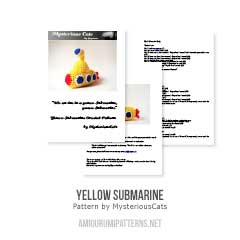Yellow submarine amigurumi pattern by MysteriousCats