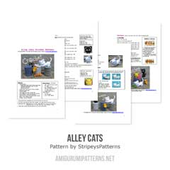 Alley Cats amigurumi by StripeysPatterns