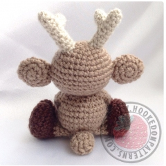 Noel the Reindeer  amigurumi by Hooked On Patterns