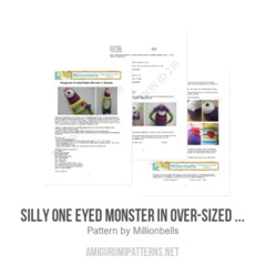 Silly One Eyed Monster In Over-sized Sweater amigurumi pattern by Millionbells