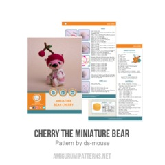 Cherry the Miniature Bear  amigurumi pattern by Ds_mouse