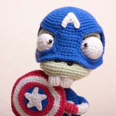 Zombie Captain America amigurumi pattern by Ds_mouse