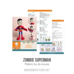 Zombie Superman amigurumi pattern by Ds_mouse