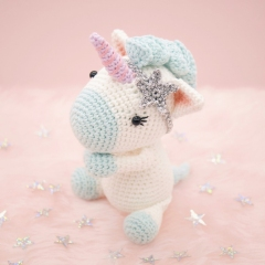 Aurora the Unicorn amigurumi pattern by LittleAquaGirl