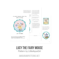 Lucy the Fairy Mouse amigurumi pattern by LittleAquaGirl