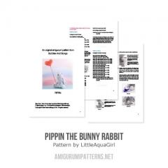 Pippin the bunny rabbit amigurumi pattern by LittleAquaGirl