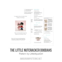 The Little Nutcracker Doodahs amigurumi pattern by LittleAquaGirl