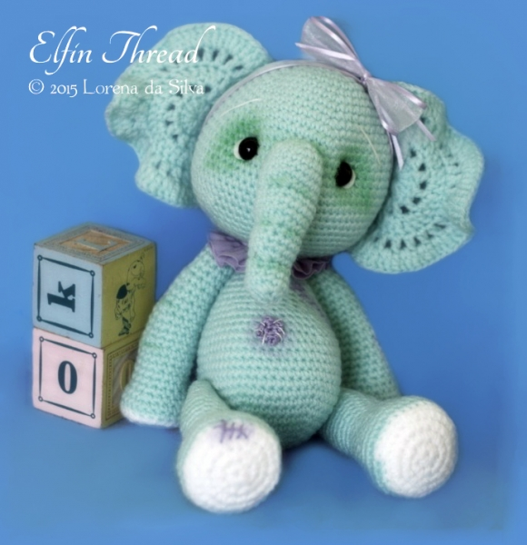 Ella The Elephant Free Crochet Pattern : Ella, the Elephant amigurumi pattern - Amigurumipatterns.net