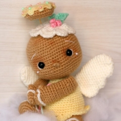 Vintage Gingerbread Angel Doll amigurumi by Elfin Thread