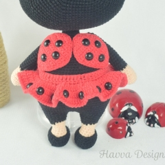 Bonnie With Ladybug Costume amigurumi by Havva Designs