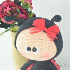 Bonnie With Ladybug Costume amigurumi pattern by Havva Designs
