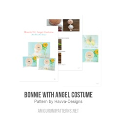 Bonnie with Angel Costume amigurumi pattern by Havva Designs