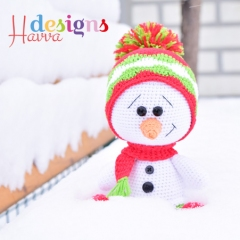 Cute Snowman amigurumi by Havva Designs