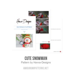 Cute Snowman amigurumi pattern by Havva Designs