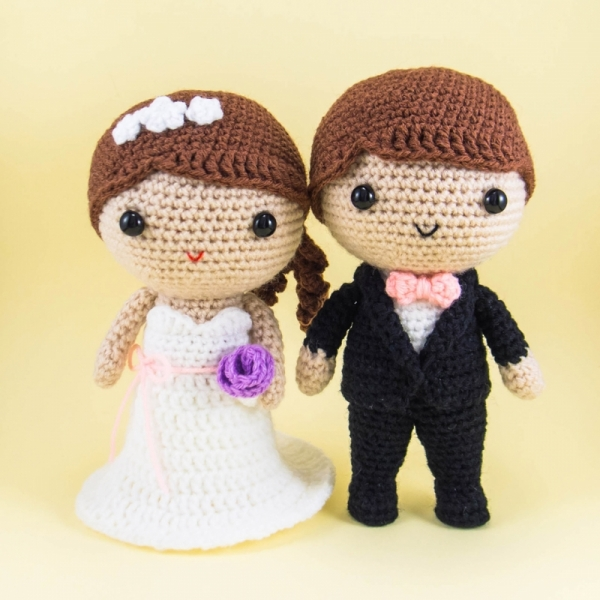 Crochet Wedding Gifts Patterns: Bride And Groom Wedding Pattern Amigurumi Pattern