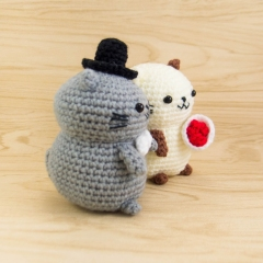 Cat Couple amigurumi by Snacksies Handicraft Corner
