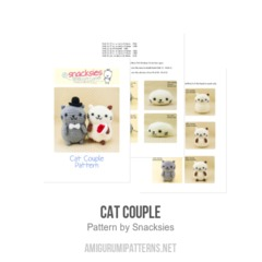 Cat Couple amigurumi pattern by Snacksies Handicraft Corner