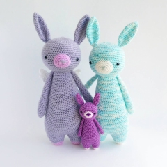Rabbit with Wings amigurumi by Little Bear Crochet