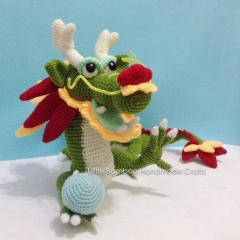 Chinese dragon amigurumi pattern by Little Bamboo Handmade