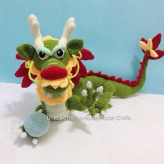 Chinese dragon amigurumi by Little Bamboo Handmade