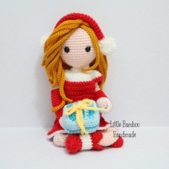 Chloe The Red Dress Girl amigurumi by Little Bamboo Handmade